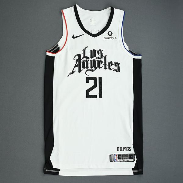 Image of Patrick Beverley - Los Angeles Clippers - Christmas Day' 19 - Game-Worn City Edition Jersey - Worn 2 Games - 1 of 2