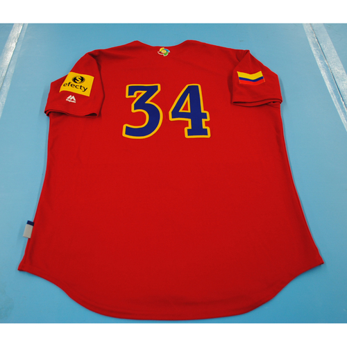 Photo of 2017 World Baseball Classic: Colombia Batting Practice Jersey #34 - Nabil Crismatt - Size L