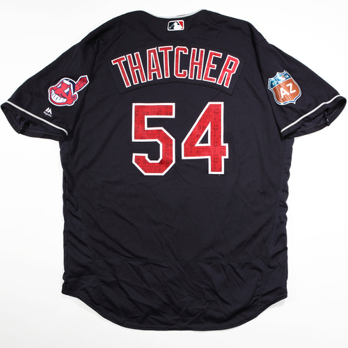 Photo of 2016 Spring Training - Spring Training Game Used Jersey - Joe Thatcher (Indians)- Size- 52