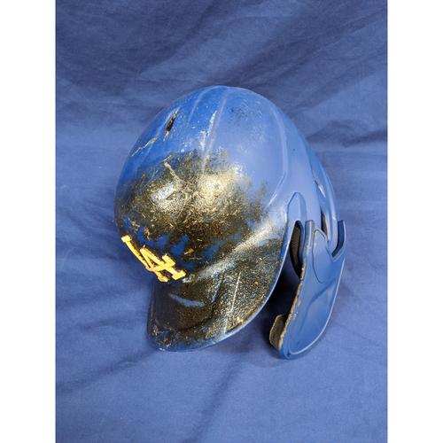 "Photo of Enrique ""Kiké"" Hernandez Team-Issued 2019 Postseason Helmet"