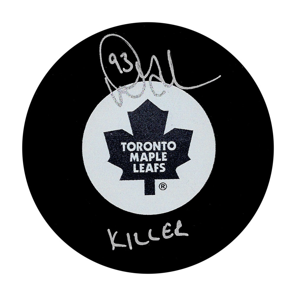 Doug Gilmour Autographed Toronto Maple Leafs Puck w/KILLER Inscription