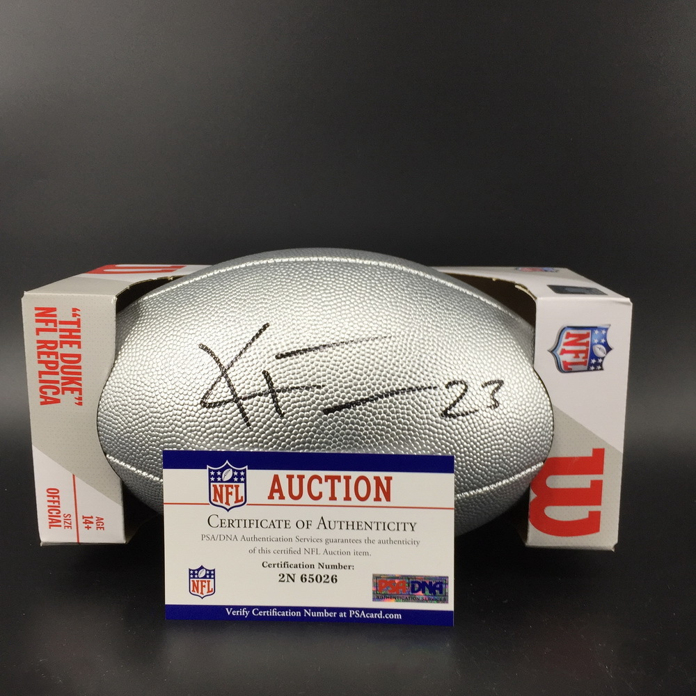 NFL - Broncos Kyle Fuller Signed Silver 100 Seasons Commemorative Football