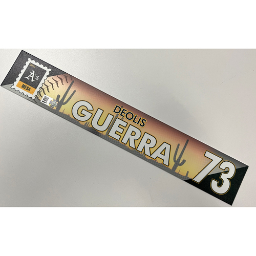 Photo of Game-Used 2021 Spring Training Locker Nameplate - Deolis Guerra