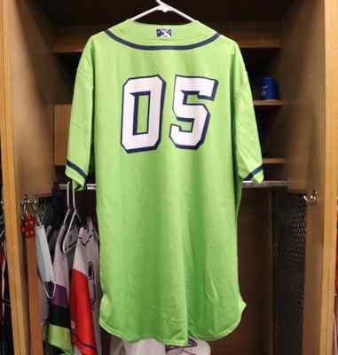 Stockton Ports Splash Asparagus jersey, #05 , Size 52