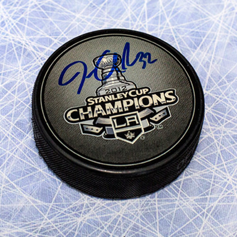 Jonathan Quick Los Angeles Kings Autographed 2012 Stanley Cup Champs Puck