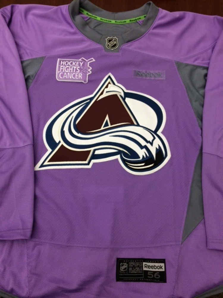 on sale a49f8 ab4b1 Nathan MacKinnon Colorado Avalanche Hockey Fights Cancer ...