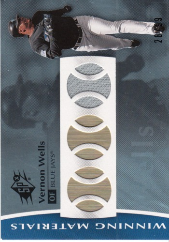 Photo of 2008 SPx Winning Materials Baseball 99 #VW Vernon Wells