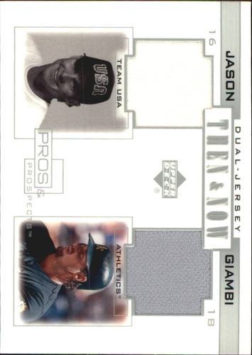 Photo of 2001 Upper Deck Pros and Prospects Then and Now Game Jersey #TNJG Jason Giambi