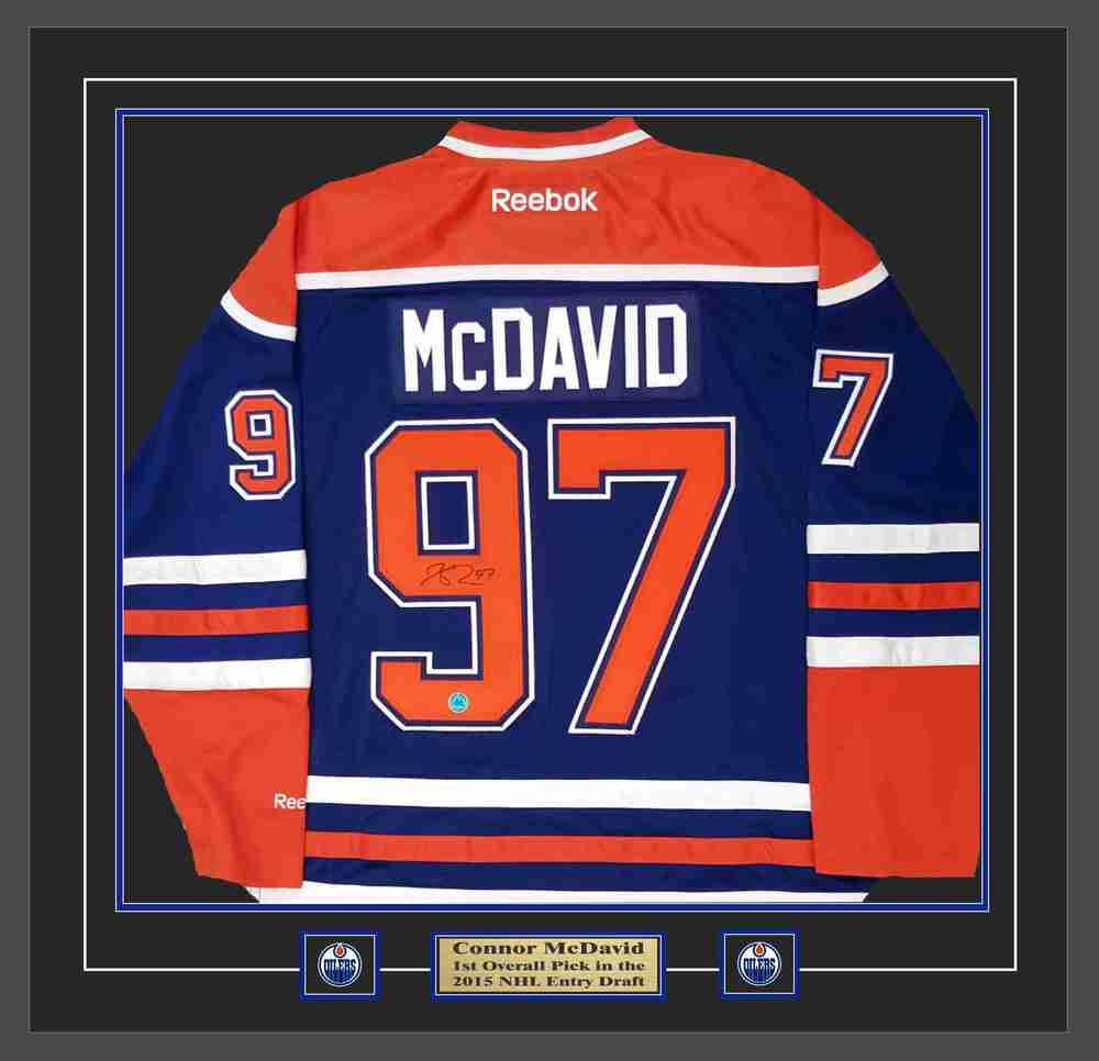 Connor McDavid - Signed & Framed Edmonton Oilers Blue Edmonton ...