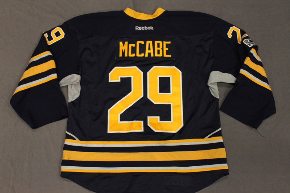 e2f7fc928 ... discount jake mccabe buffalo sabres game used 2016 17 set 2 home jersey  94019 a7f02