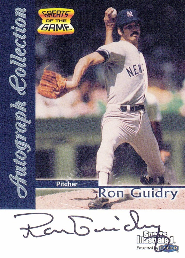 1999 Sports Illustrated Greats of the Game Autographs #29 Ron Guidry