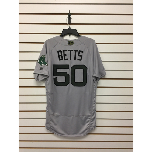 Mookie Betts Team-Issued 2017 Memorial Day Road Jersey