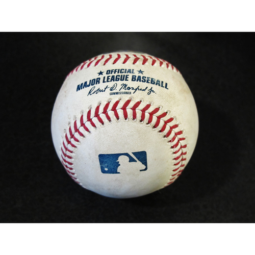 Photo of Game Used Baseball: Felix Hernandez Strikes Out Jed Lowrie. SEA-OAK 4-15-2018.