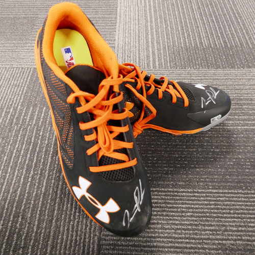 Photo of San Francisco Giants - Player Collected Autographed Cleats - Jarrett Parker (pair) - Size 11.5