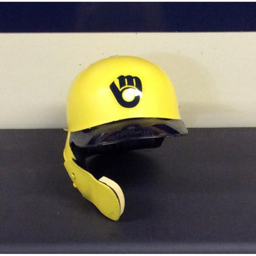 "Photo of Mike ""MOOSE"" Moustakas Game-Used 2018 Players Weekend Batting Helmet - 2 2Bs, 2 2-Run HRs (08/24/18-08/26/18)"