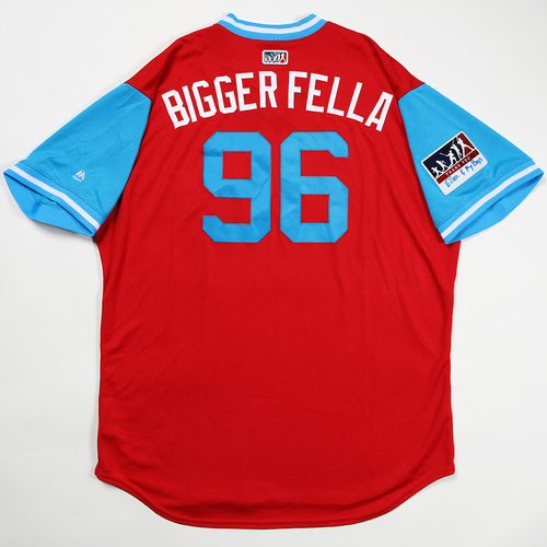 """Photo of Tommy """"Bigger Fella"""" Hunter Philadelphia Phillies Game-Used Jersey 2018 Players' Weekend Jersey"""