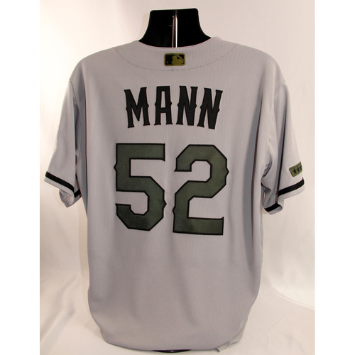Photo of Team-Issued Memorial Day Jersey - Brandon Mann - 5/28/18