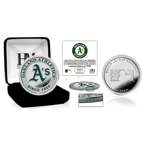 Photo of Serial #1! Oakland Athletics Silver Color Coin