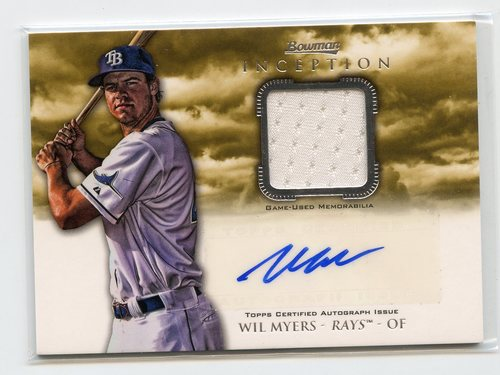 Photo of 2013 Bowman Inception Relic Autographs #WM Wil Myers