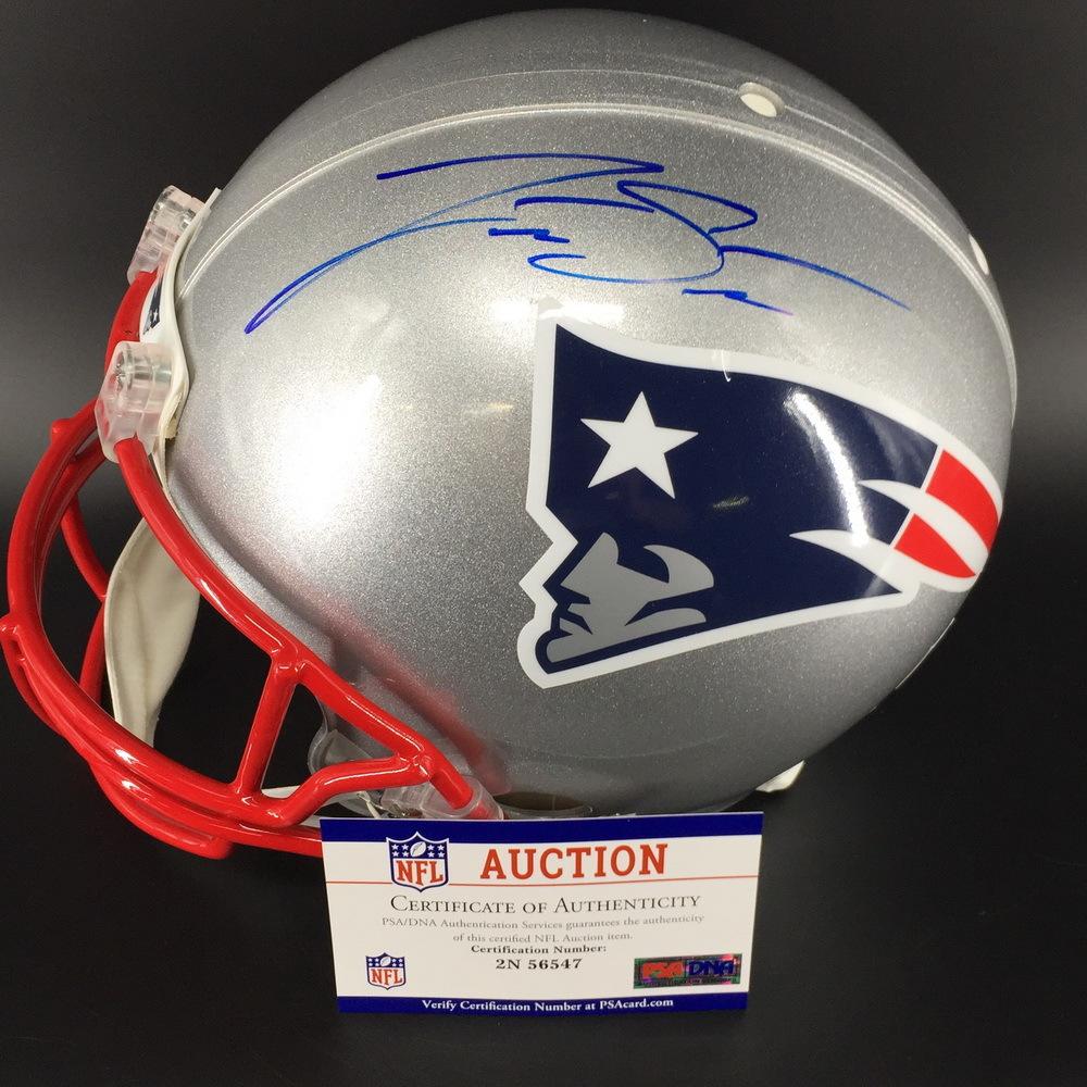 Nfl Auction Nfl Patriots Jarrett Stidham Signed Proline Helmet