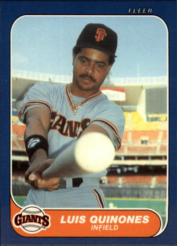 Photo of 1986 Fleer Update #92 Luis Quinones