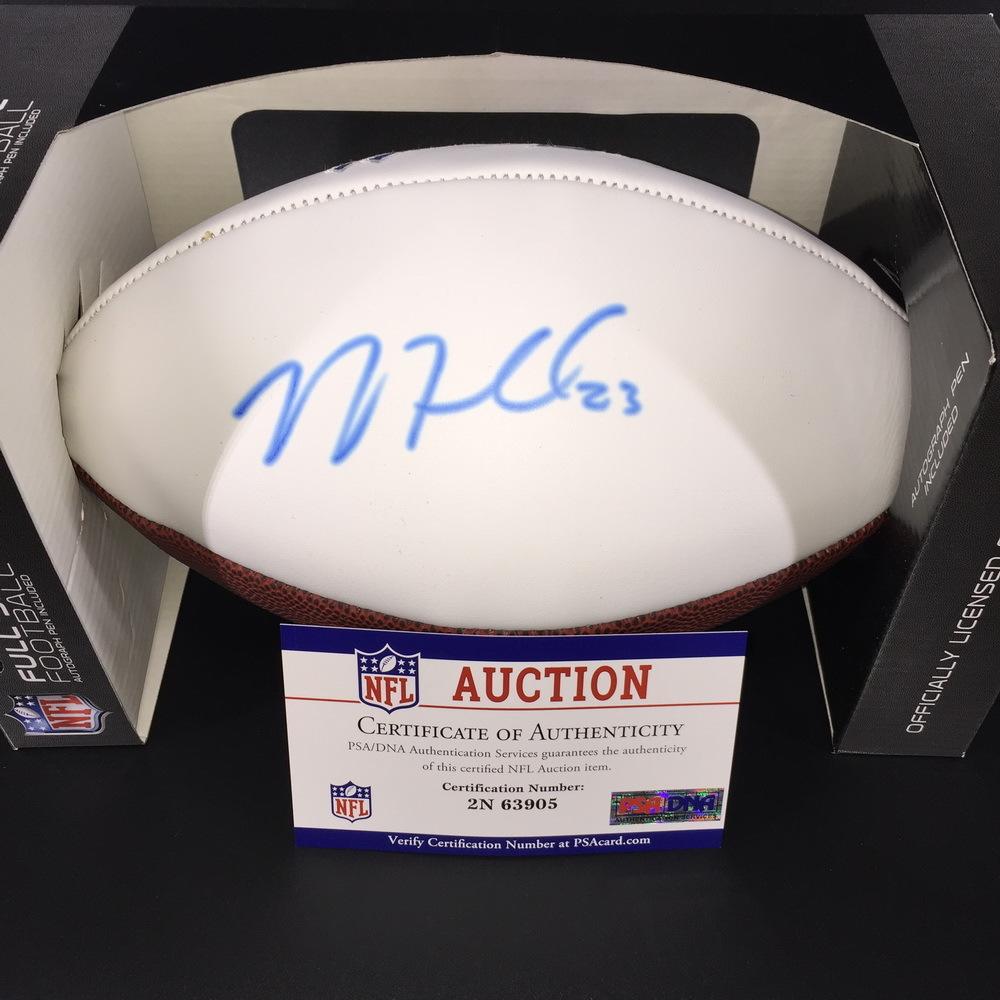 Bills - Micah Hyde Signed Panel Ball W/ Bills Logo