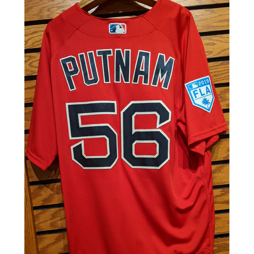 Photo of Zach Putnam #56 Team Issued 2019 Spring Training Red Jersey