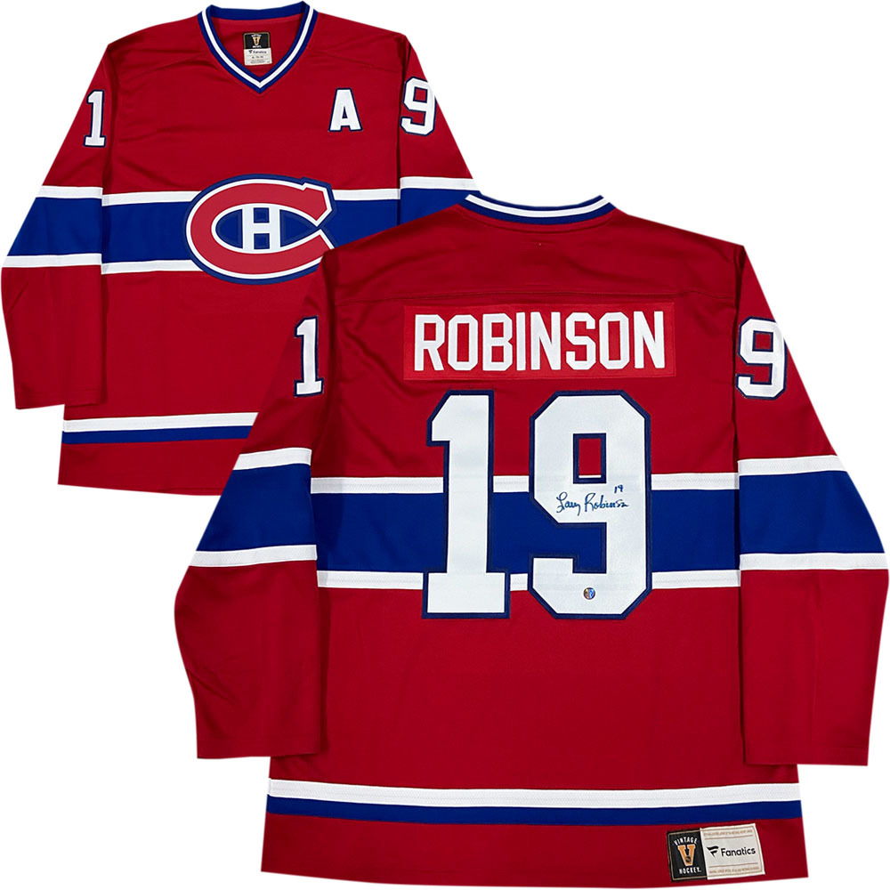 Larry Robinson Autographed Montreal Canadiens Fanatics Heritage Jersey
