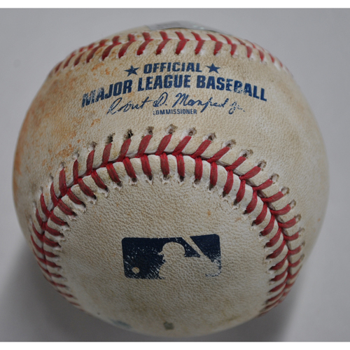 Photo of Game-Used Baseball - CWS vs. PIT - 9/8/2020 - Pitcher - Joe Musgrove, Batter - Yoan Moncada, Top 3, Single