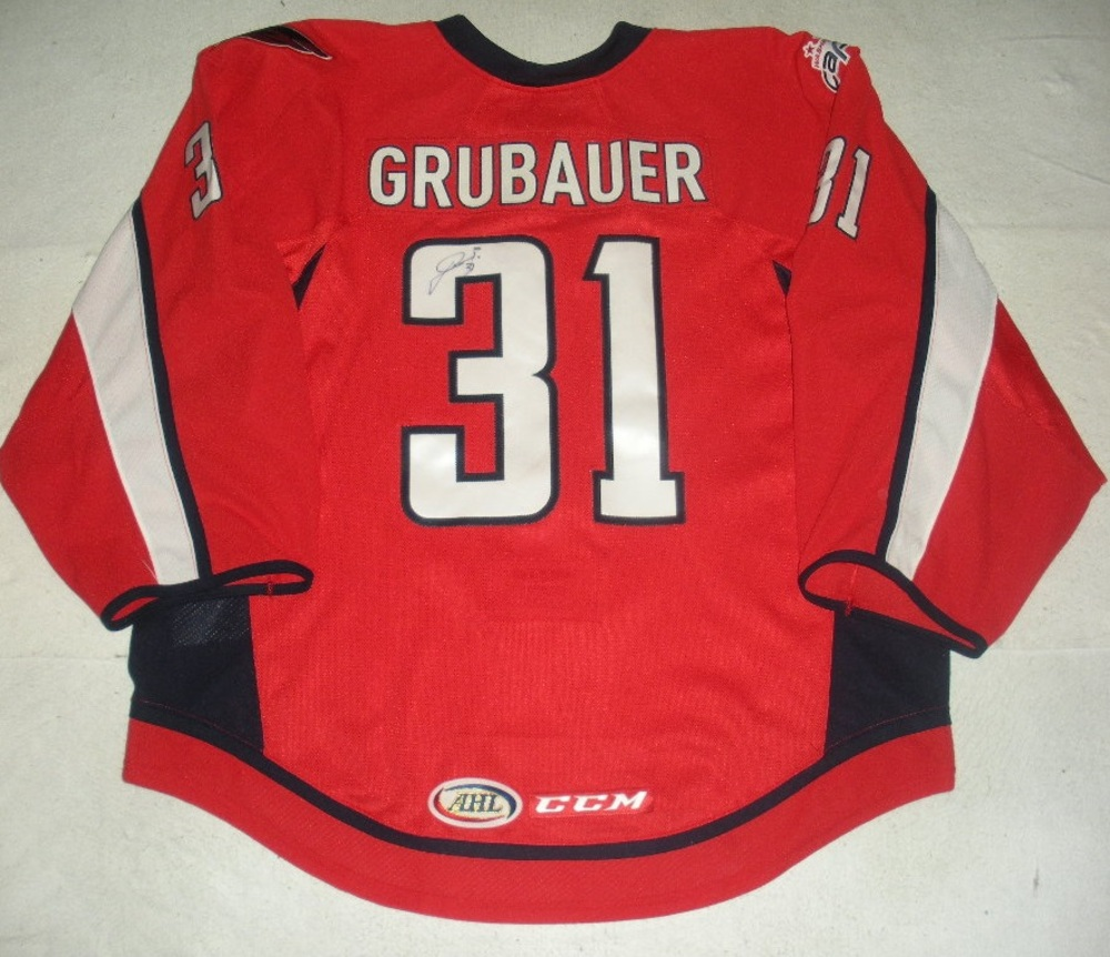 Philipp Grubauer - Hershey Bears - Washington Caps 40th Anny.-Themed  Autographed Game-Worn Jersey - Worn in 2nd and 3rd Periods fb84e1b391e4