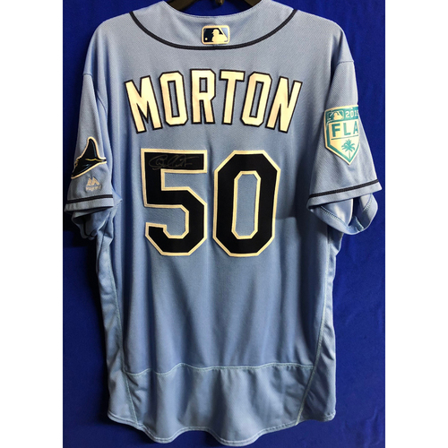 Team Issued Autographed Spring Training Jersey: Charlie Morton - 2019