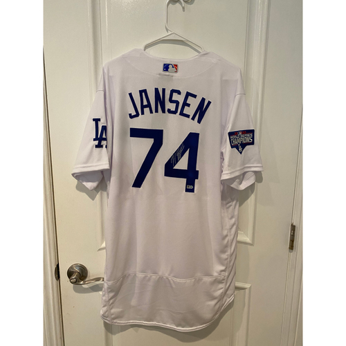 Photo of Kenley Jansen Autographed Authentic Los Angeles Dodgers Jersey