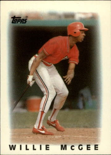 Photo of 1986 Topps Mini Leaders #63 Willie McGee