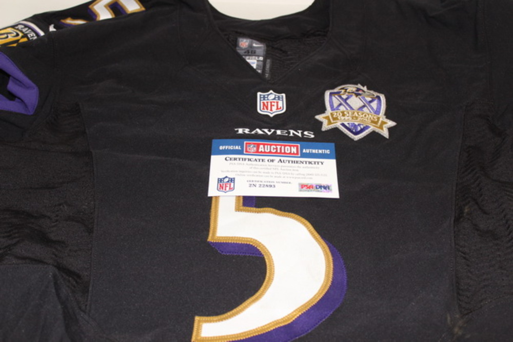 best website 24903 b6ffb NFL Auction | BCA - RAVENS JOE FLACCO GAME WORN RAVENS ...