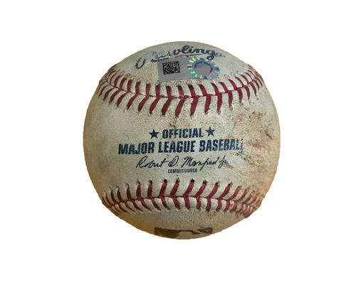 Game-Used Baseball from Pirates vs. Dodgers on 8/24/17 - Baez to McCutchen, 2 Pitches