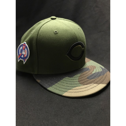 Photo of Phillip Ervin - Game-Used - Military Appreciation Hat (Worn: 2018) - 8/10 Starting LF, Went 0/3, BB