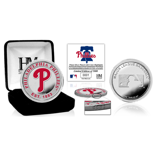 Photo of Serial #1! Philadelphia Phillies Silver Color Coin