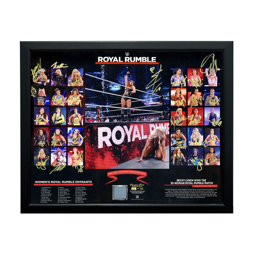 Photo of 2019 Women's Royal Rumble Entrant Autographed Ring Canvas Plaque (Random Number)