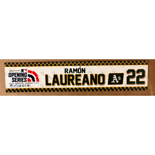 Photo of 2019 Japan Opening Day Series - Game Used Locker Tag - Ramon Laureano -  Oakland Athletics