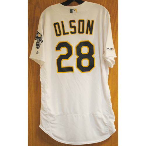 Photo of Matt Olson Game Used No-Hitter 5/7/19 Jersey