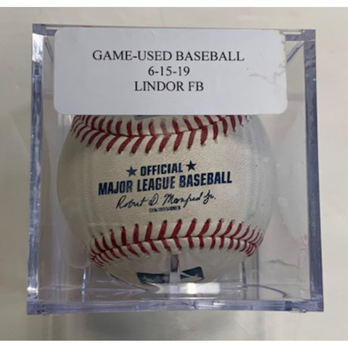 Photo of Game-Used Baseball: Francisco Lindor Foul Ball