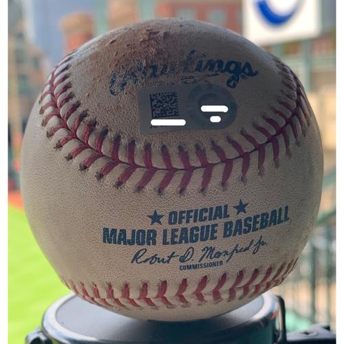 Photo of Game-Used Baseball Astros vs. Rangers 7-19-19: Will Harris to Danny Santana (Single)
