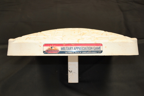 Photo of Game-Used 3rd Base - Arizona Fall League - Scottsdale Scorpions at Glendale Desert Dogs - 10/06/2019 - Used Innings 1-6