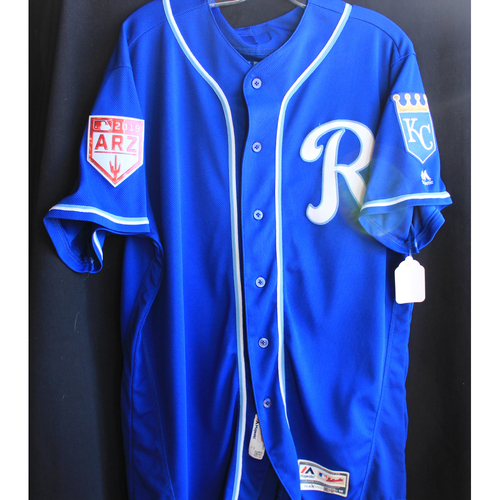 Photo of Game-Used Spring Training Jersey: Scott Blewett (Size 48 - 2/25/19 - COL @ KC)