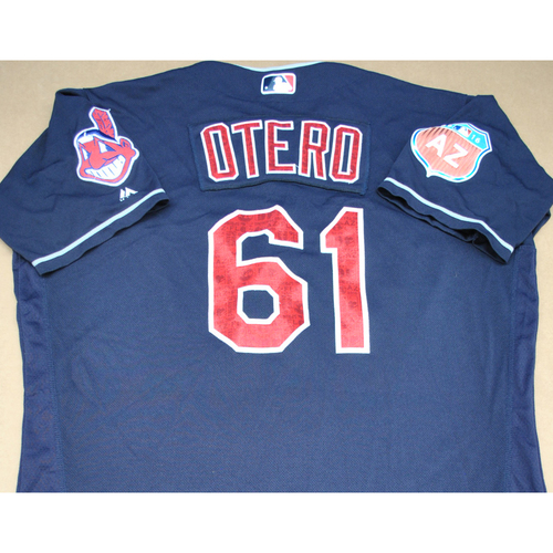 Photo of Game-Used 2016 Spring Training Jersey - Danny Otero - Size 48 - Cleveland Indians