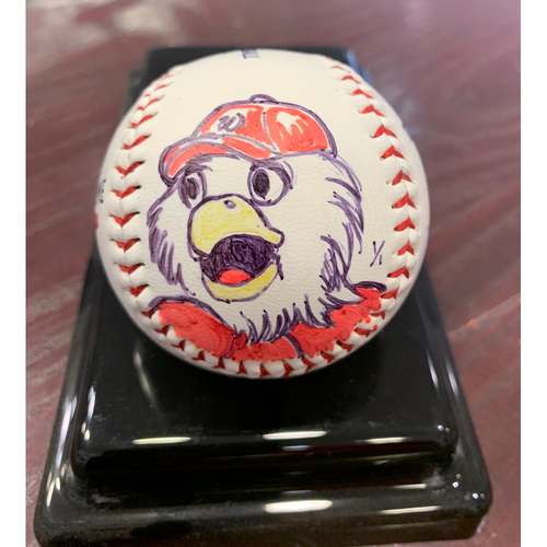 Photo of Washington Nationals - Screech - Original Ball Art by S. Preston - Autographed by the Artist