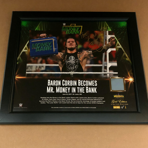 Photo of Baron Corbin SIGNED Money In The Bank 2017 frame (1 of 1)