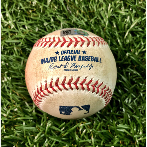 Photo of Game Used Baseball: Pete Fairbanks strikes out Ozzie Albies - July 28, 2020 v ATL
