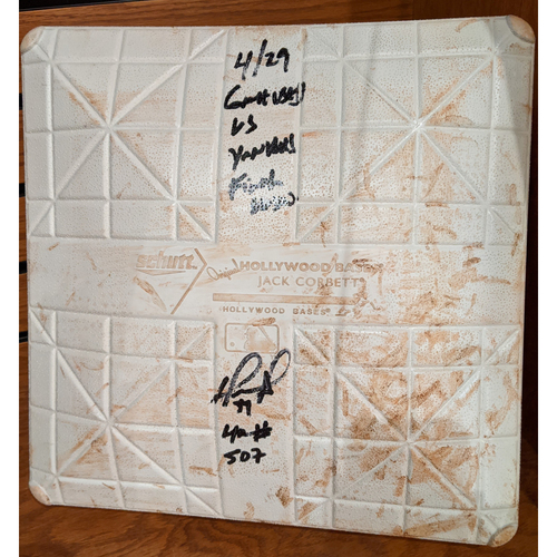 David Ortiz Autographed April 29, 2016 vs. New York Yankees Game Used 3rd Base