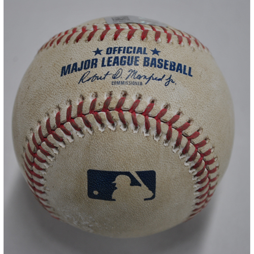 Photo of Game-Used Baseball - STL vs. PIT - 9/20/2020 - Pitcher - Joe Musgrove, Batter - Paul Goldschmidt, Top 6, Double